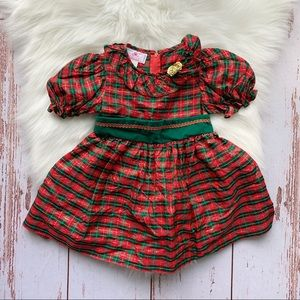 Vintage Dorissa Plaid Holiday Dress